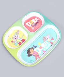 Dora the Explorer Sectioned Plate - Green
