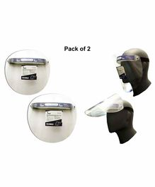 Welit Face Shield With Movable Visor - Pack of 2