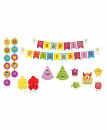 Untumble Monster Theme Birthday Kit - Pack of 58