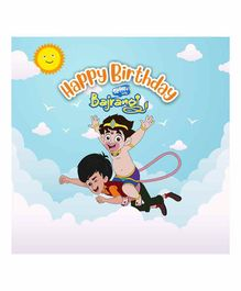 Untumble Selfie with Bajrangi Happy Birthday Backdrop 4 Feet - Blue