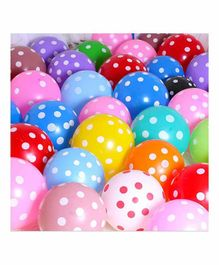 Untumble Polka Dotted Party Balloons Multicolor - Pack of 50