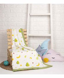 Kicks & Crawl Quilted Muslin Blanket Avocado Print - Green