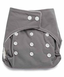 Kicks & Crawl Reusable Cloth Diaper - Grey