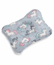 Kicks and Crawl Head & Neck Support Pillow Unicorn Print - Blue