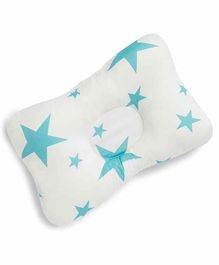 Kicks and Crawl Head & Neck Support Pillow Star Print - White