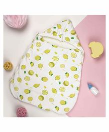 Kicks & Crawl Thick Sleeping Bag Lemon Print - White