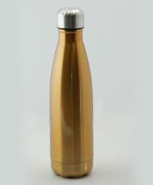 Pix Double Wall Insulated Thermos Bottle Golden - 500 ml