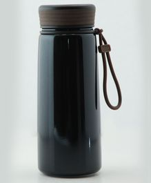 Pix Double Wall Insulated Thermos Bottle Black - 400 ml