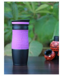 PIX Stainless Steel Mug with Lid Pink Black - 450 ml