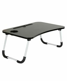Passion Petals Wooden Foldable Table - Black