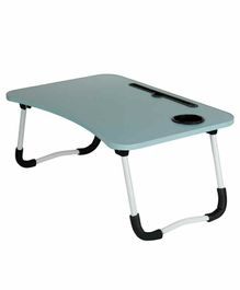 Passion Petals Wooden Foldable Table - Blue