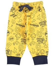 Crazy Penguin Super Star Print Full Length Lounge Pants - Yellow