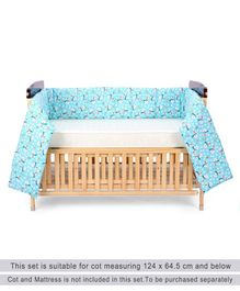 Zoe Cot Bumper Snow Bear Print Regular - Green