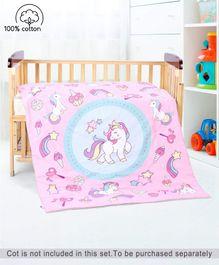 Babyhug Cotton Quilt Unicorn Print - Multicolor