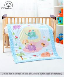 Babyhug Cotton Quilt Elephant Print - Multicolor