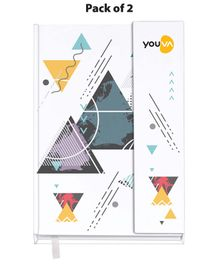 Youva Case Bound Single Line Long Book Pack of 2  - 160 Pages Each