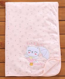 Simply Baby Wrapper Kitty Embroidery - Pink