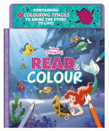 Parragon Disney Princess Read & Colour Book - English