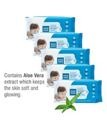 Mee Mee Caring Baby Wet Wipes with Aloe Vera Pack of 5 - 360 Pieces