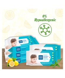 Mee Mee Caring Baby Wet Wipes with Lemon & Aloe Vera Pack of 5 - 360 Pieces