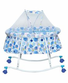 Mee Mee Baby Cradle With Mosquito Net - Blue