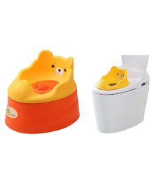 R for Rabbit Tiny Tots Adaptable Potty Training Seat - Orange Red