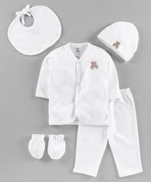I Bears 5 Piece Baby Clothing Gift Set - White