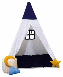 Play House Kids Tent House with Quilt and Bean Bag  - Grey