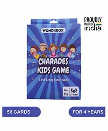 Wondrbox Charades Kids Card Game - Multicolour
