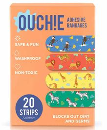 Aya Papaya Ouchie Non-Toxic Printed Bandages Orange - 20 Bandages
