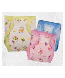 Lollipop Lane Cloth Diapers with Velcro Closure Large - Pack of 3