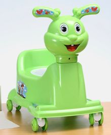 Potty Training Chair With Wheels - Green