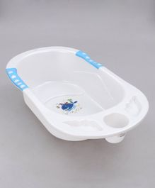 Babyhug Bath Tub with Drain Plug Whale Print - Blue