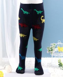 Mustang Footed Tights Dino Design - Navy Blue