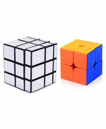 VWorld Rubix Cube Pack of 2 - Silver Blue