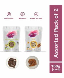 Shemade Almond & Double Dark Chocolate Pistachio Biscottis Pack of 2 - 150 grams each