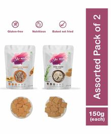Shemade Caramelized Onion & Jeera Ajwain Crackers Pack of 2 - 150 grams each