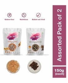 Shemade Caramelized Onion Crackers & Dark Chocolate Rock Salt Biscottis Pack of 2 - 150 grams each