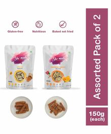 Shemade Almond & Cranberry Orange Biscottis Pack of 2 - 150 grams each