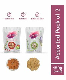 Shemade Sundried Tomato & Herb Crackers Pack of 2 - 150 grams each