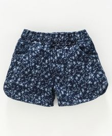 Kiddopanti Flower Print Shorts - Blue