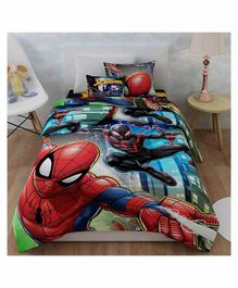 Sassoon Single Blanket Marvel Spider Man Print - Red Blue
