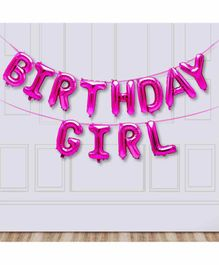 Amfin Happy Birthday Foil Balloon Banner - Pink