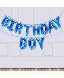 Amfin Happy Birthday Foil Balloon Banner - Blue