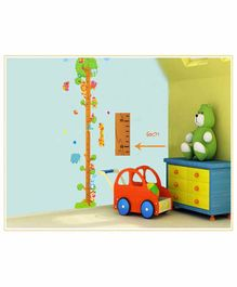 Syga Birds Height Measurement Wall Sticker - Multicolour
