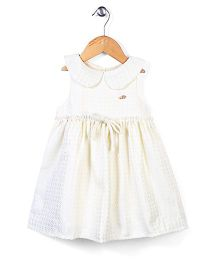 Little Wonder Sailor Collar Dress - Ivory