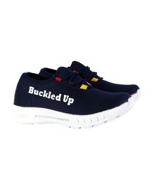 Buckled Up Lace Up Shoes - Blue