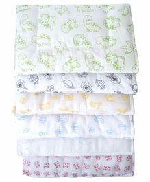 Rio Pure Cotton Padded Mats Pack of 6 - Multicolor