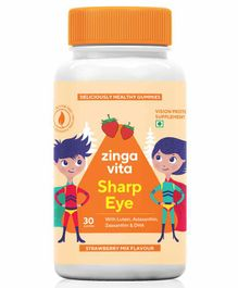 Zingavita Sharp Eye Strawberry Flavour Gummies - 30 Pieces