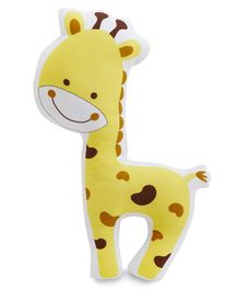 The White Cradle Organic Cotton Giraffe Soft Toy Yellow - Height 35 cm